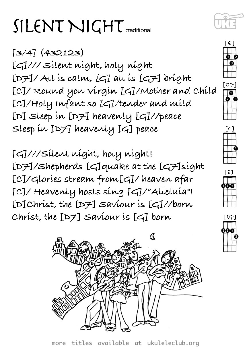 Ukulele chords - Silent Night by Traditional