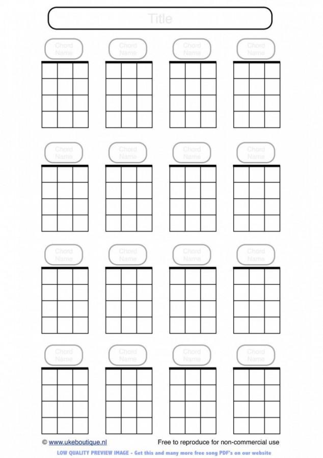 Blank Ukulele Chord Paper Ukulele Club Amsterdam