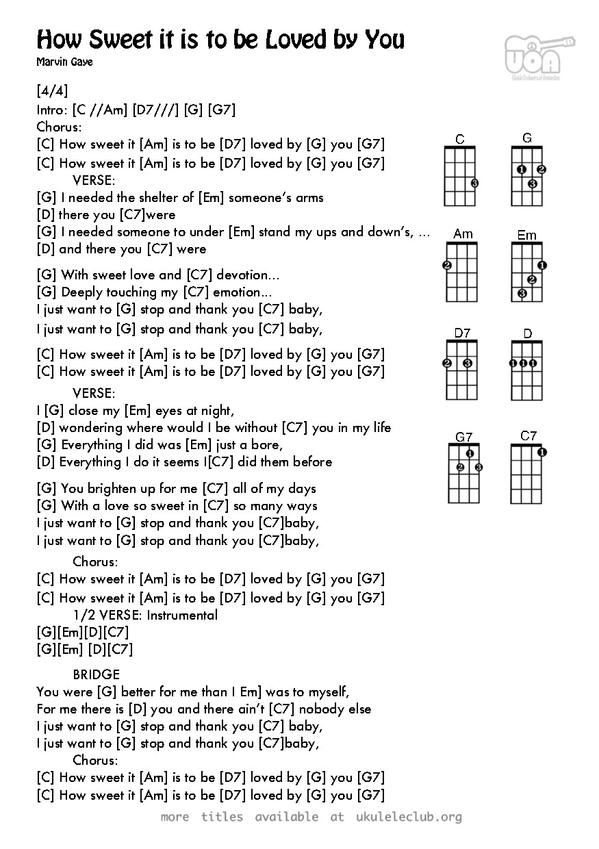 Ukulele chords how sweet it is to be loved by you by holland pdf thumbnail should appear here hexwebz Images