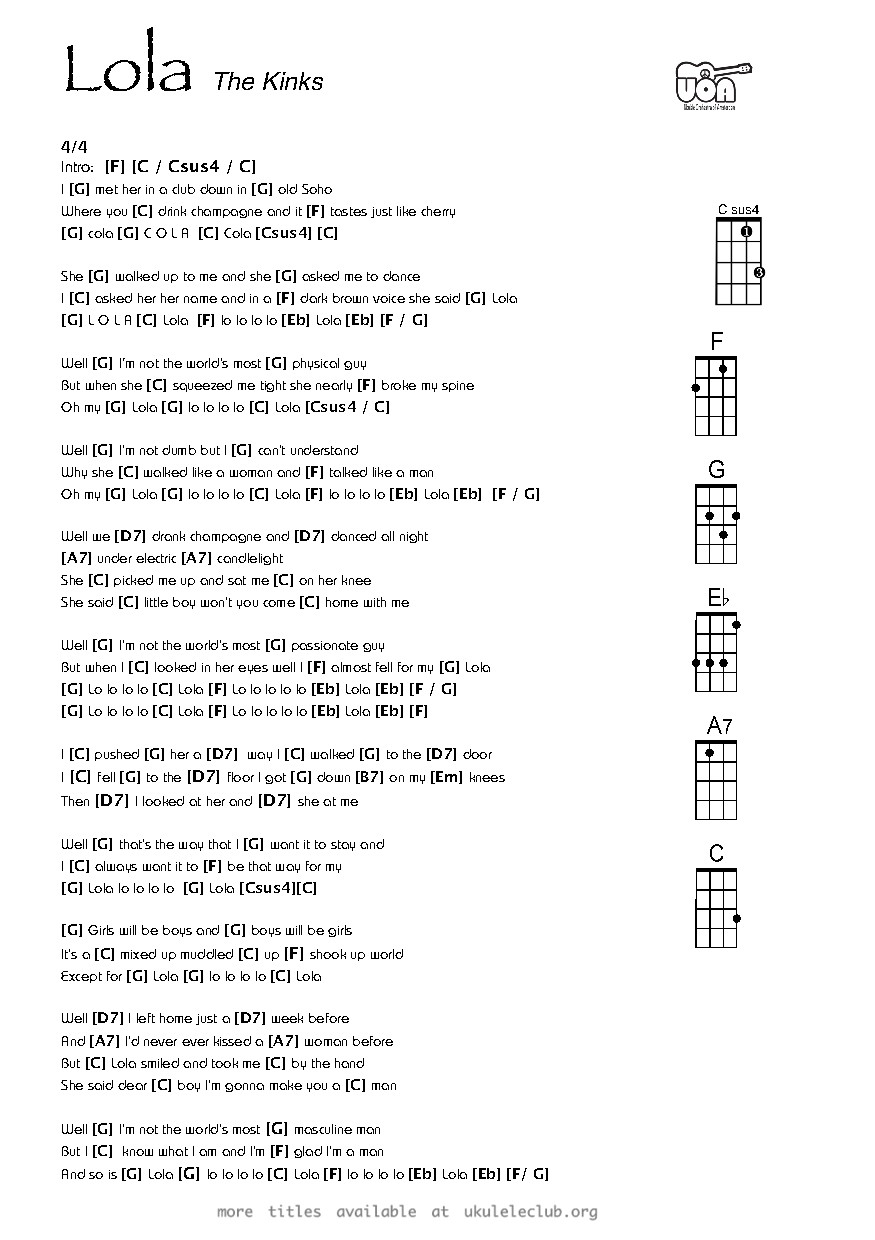 Ukulele chords lola by ray davies the kinks pdf thumbnail should appear here hexwebz Choice Image