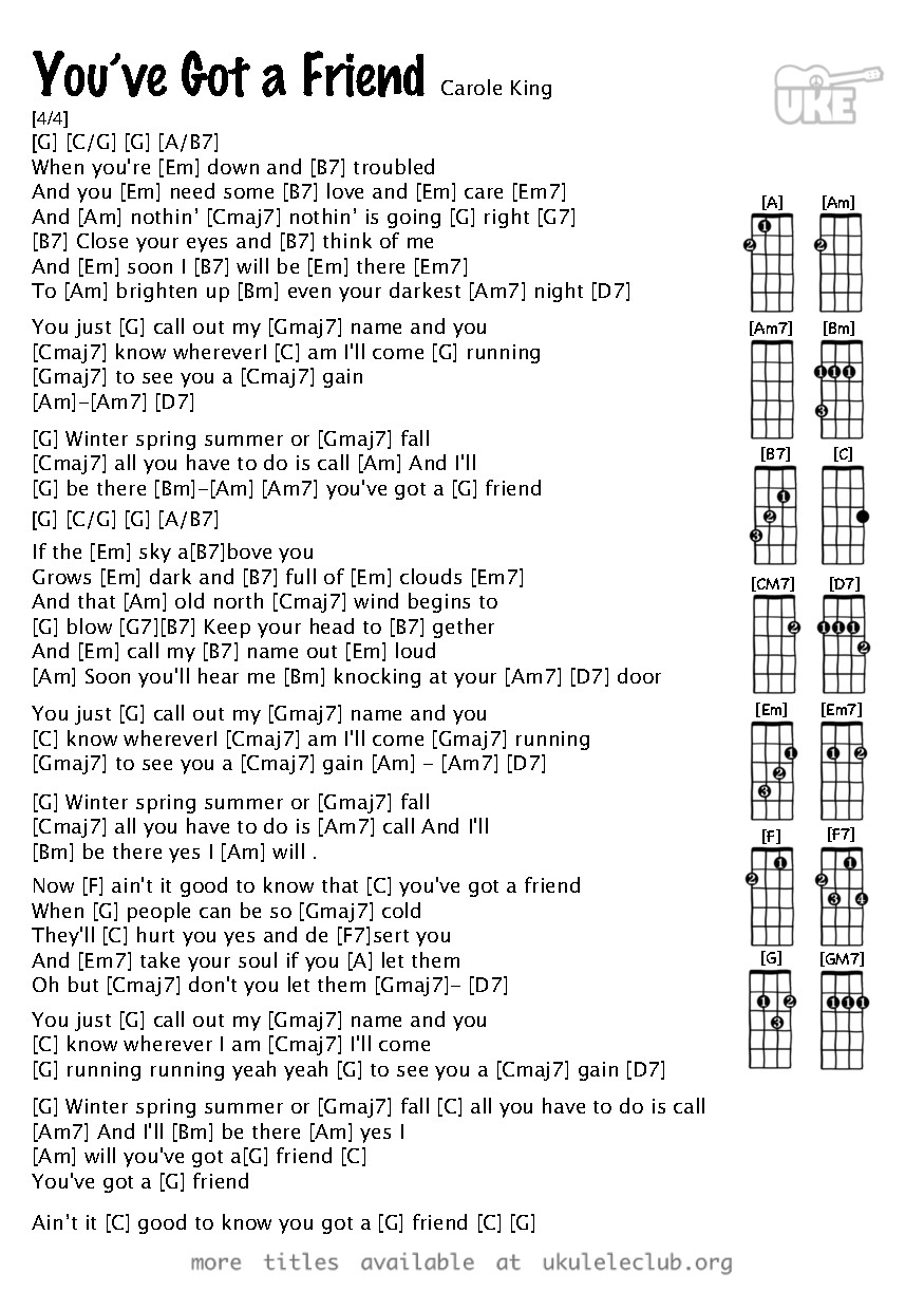 Ukulele chords youve got a friend by carole king pdf thumbnail should appear here hexwebz Images
