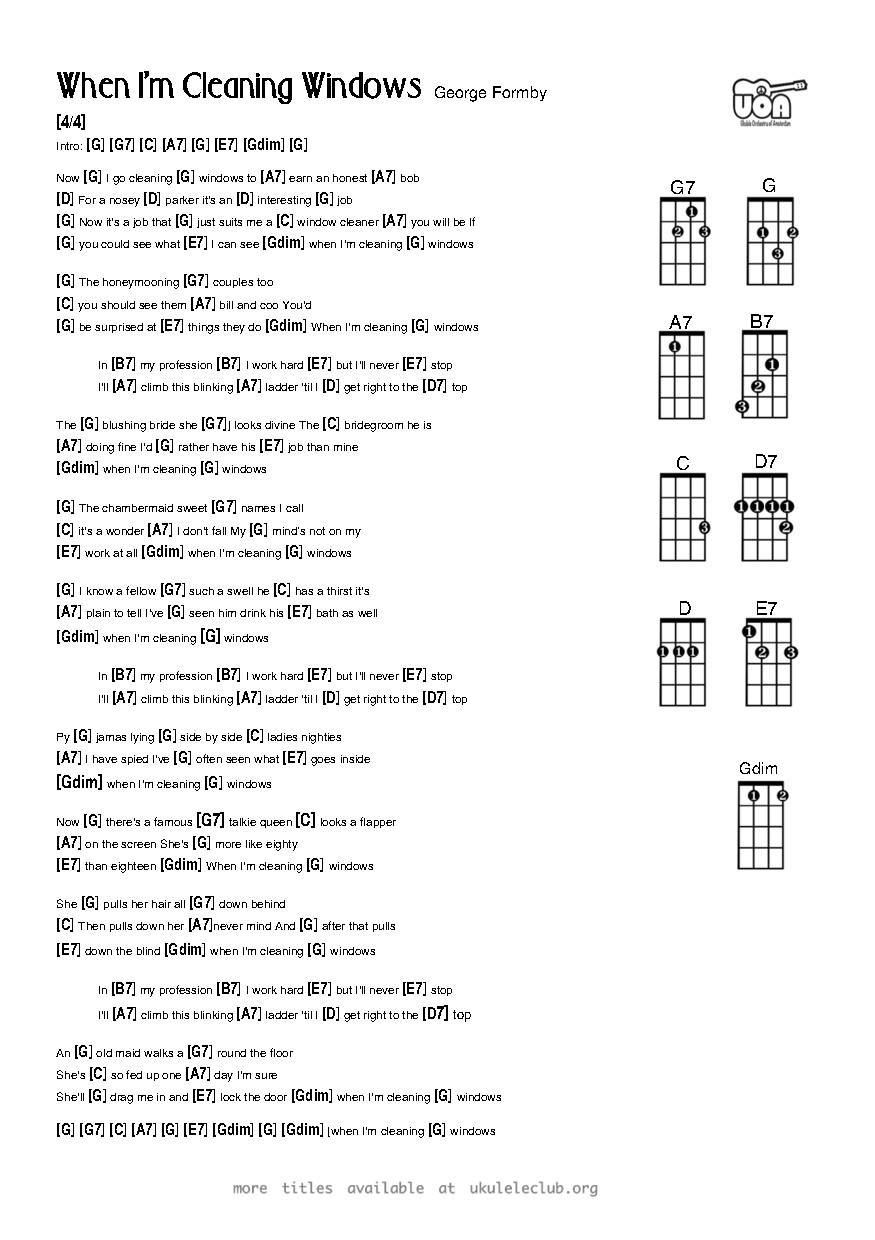 Ukulele chords the window cleaner by george formby pdf thumbnail should appear here hexwebz Gallery