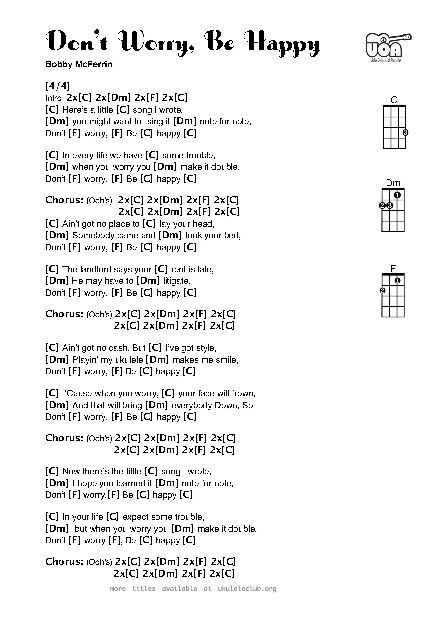 Ukulele chords dont worry be happy by bobby mcferrin pdf thumbnail should appear here hexwebz Images