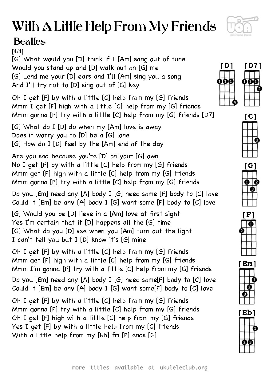 Friends theme song guitar chords